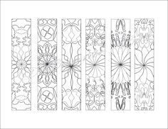 Printable Bookmarks to Color, Printable Coloring Page, Digital Download, 6 Bookmarks, PDF, Adult Coloring Page, Doodles, Instant Art by ConnieCoxStudio on Etsy