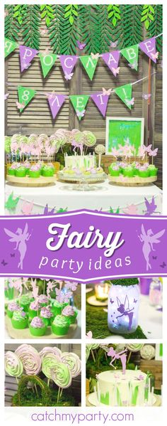 Don't miss this wonderful Fairy birthday party!  |pinterest: @BossUpRoyally [Flo Angel]