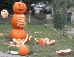 creative pumpkin carving, fight club Halloween, grim, gruesome, murder death kill, yard decorations, holiday