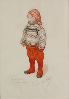 Carl Larsson au Petit Palais - I saw this exhibit today in Paris. He is wonderful. My aunt introduced me to his art when I was just little. I didn't know it was here, but I recognized it immediately. What a fun surprise on my last day in Paris.