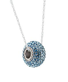 Sapphire & Sterling Silver Pavé Necklace With Swarovski® Crystals