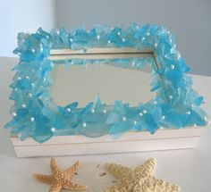 SEA GLASS EASY DIY PROJECTS...  SEE MORE AT http://styleitchic.blogspot.gr/2012/06/sea-glass-chandelier.html