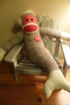 Image result for free printable mermaid sock monkey templates