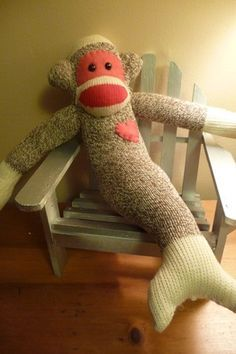 Image result for free printable mermaid sock monkey templates
