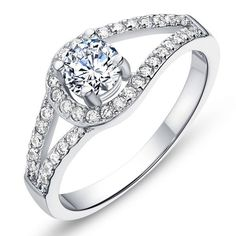 Type Wedding Ring Condition 100% brand new Material Cupronickel 18K Gold Rhinestone Manufacture craft Electroplating Feature Anti-allergy and colour will not fade Appearance Romantic Wedding Ring Rhin