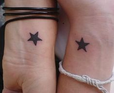 Star tattoo on wrist