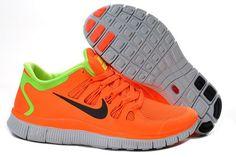 Chaussures De Sport Nike Free 5.0 + Femme Watermelon Rouge Fluorescent Vert Soldes