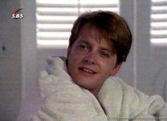 "Michael J. Fox from ""The Secret of My Success"""