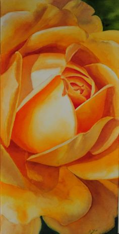 Yellow Rose Painting - watercolor painting by Doris Joa