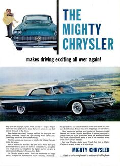 1958 Chrysler Saratoga 4-Door Hardtop #classic #car #ad