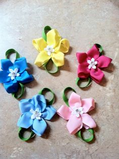 flower hairbows