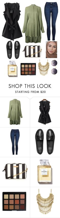 """Back"" by shayma-mars ❤ liked on Polyvore featuring Chalayan, WithChic, Topshop, FitFlop, Morphe, Marabelle and Spitfire"