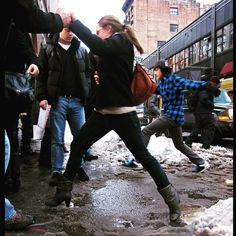 Don't be this girl today in the cheap pleather boots that disintegrate in the least bit of moisture. We've still got plenty of waterproof boots and protector so be sure to stop in! . . . . . #slush #snow #wet #shaderoom #shade #waterproof #boots #booties #waterproofbooties #puddles #jumpinginpuddles #snow #winter #shopping #simonsshoes #igersboston