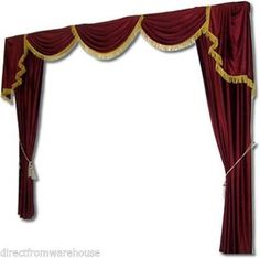 Saaria-Home-Theater-Movie-Velvet-Curtains-Drapes-Backdrop-12W-X8H-Burgundy-ST1