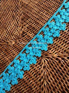 crochet-step by step Crochet Baby Dress Pattern, Crochet Edging Patterns, Crochet Lace Edging, Crochet Borders, Crochet Chart, Crochet Squares, Irish Crochet, Crochet Designs, Crochet Flowers