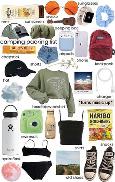 Travel Packing Checklist, Road Trip Packing List, Road Trip Hacks, Camping Packing, Road Trip Checklist, Packing List Beach, Travel Bag Essentials, Road Trip Essentials, Teen Trends