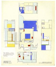 Eileen Gray's plan of e1027, her first fully realised architectural design