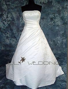 A-Line Bridal Dress - Style LWD0059-LilyWedding.com