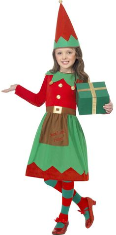 6bad3e0c7c45c Santas Little Helper Costume - Child Xmas Fancy Dress, Santa's Little  Helper, Christmas Elf