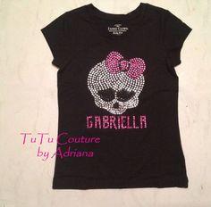 Monster High birthday shirt by TuTuCouturebyAdriana, $28.00 --  #DelaneyTurnsSeven