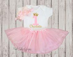 Personalizado primero cumpleaños traje chica 1er cumpleaños