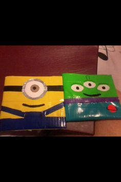 Duct tape wallets DIY