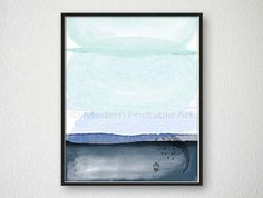 Abstract wall art in indigo and mint. With shades of Navy blue, powder blue, and aquamarine. This serene wall art makes the perfect addition