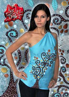 GreekTree / LucLac - SAShE.sk - Handmade Topy Shoulder Dress, One Shoulder, Hand Painted, Clothing, Handmade, Dresses, Fashion, Outfits, Vestidos