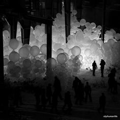 Massive balloon installation #InstallationArt