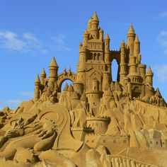 An ephemeral masterpiece in sand...an amazing Sand Castle!