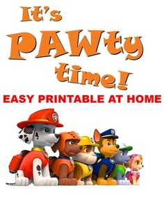Dog Body Language, Sweet Potatoes For Dogs, Paw Patrol, Printables, Create, Birthday, Handmade Gifts, Music, Party