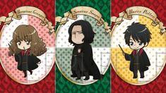 Harry Potter manga - Hermione, Severus et Harry Potter