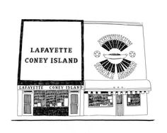 Lafayette and American Coney Island Detroit Giclee by citybird, $22.00