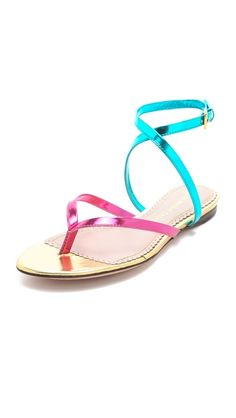 I need these for work this spring! Jean-Michel Cazabat Talasa Flat Sandals