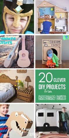 20 clever diy projects using old cardboard boxes! Projects For Kids, Diy For Kids, Crafts For Kids, Diy Projects, Clever Diy, Easy Diy, Cardboard Crafts, Cardboard Furniture, Diy With Cardboard Boxes
