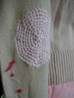 Did you know you can use crochet for mending? Heres an alternative to darning thats pretty darn cute!