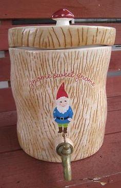 CUPCAKE & CARTWHEELS GNOME SWEET GNOME 8.5L DECANTER JUG WATER DISPENSER KITCHEN