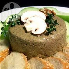 Walnut mushroom pate @ allrecipes.co.uk (replace butter with dairy free spread)