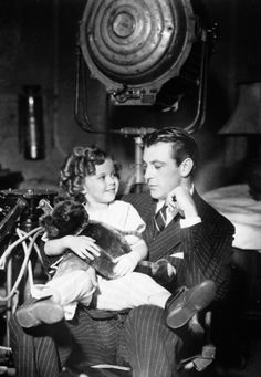 Gary Cooper & Shirley Temple Between Scenes Of Now & Forever