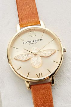I really think I might need this Moulded Bee Watch by Olivia Burton http://anthropologie.com #anthropologie
