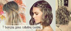 penteado cabelo curto trança - Pesquisa Google