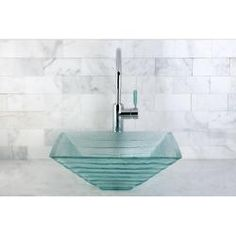 @Overstock - This contemporary thick square glass sink is well-designed for wide countertop spaces. Stunning translucent glass with glacier-layers design is well-matched, as the result of imaginative design and timeless craftsmanship. http://www.overstock.com/Home-Garden/Crystal-Bathroom-Vessel-Sink/6664403/product.html?CID=214117 $108.99   Pretty!