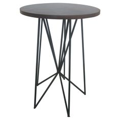 Room Essentials� Mixed Material Accent Table - Black