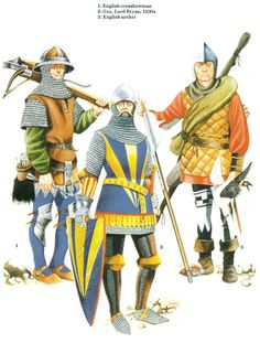 The Scottish and Welsh Wars 1250–1400 - English soldiers 14th C. Osprey Publishing