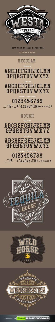 #Westa - #Decorative #Fonts