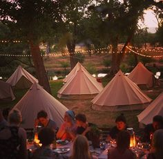 We love this inspired bell tent wedding, beautifully arranged. We would love to create an unique bell tent village for your upcoming wedding.