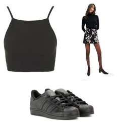 """""""Untitled #5246"""" by clarry-sinclair ❤ liked on Polyvore featuring Topshop, Miss Selfridge and adidas"""