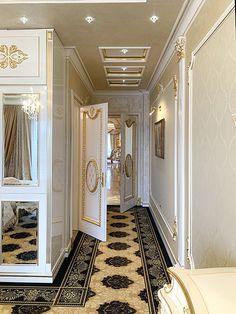Home Room Design, Interior Design Living Room, Interior Decorating, Hall Design, Floor Design, Golden Decor, Design Your Dream House, Classic Interior, Luxury Homes Interior