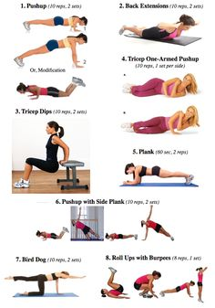 Upper and lower body workout-no equipment needed