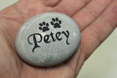 Pet memorial pocket stone engraved in memory of your by Studio569